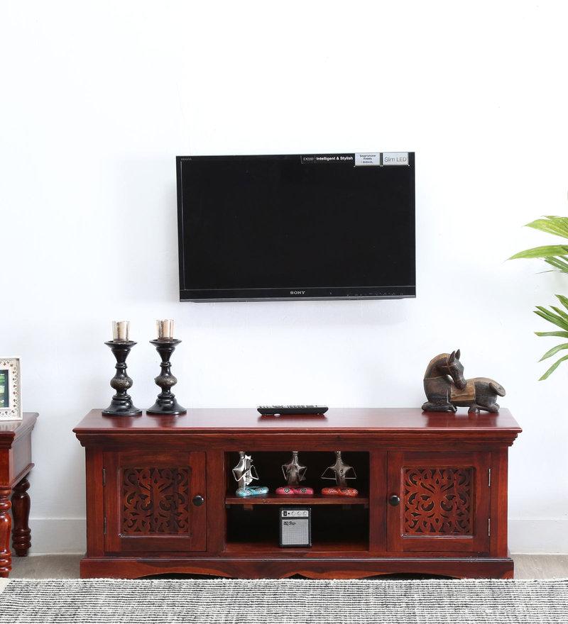 Aramika Entertainment Units in Honey Oak Finish by Mudramark