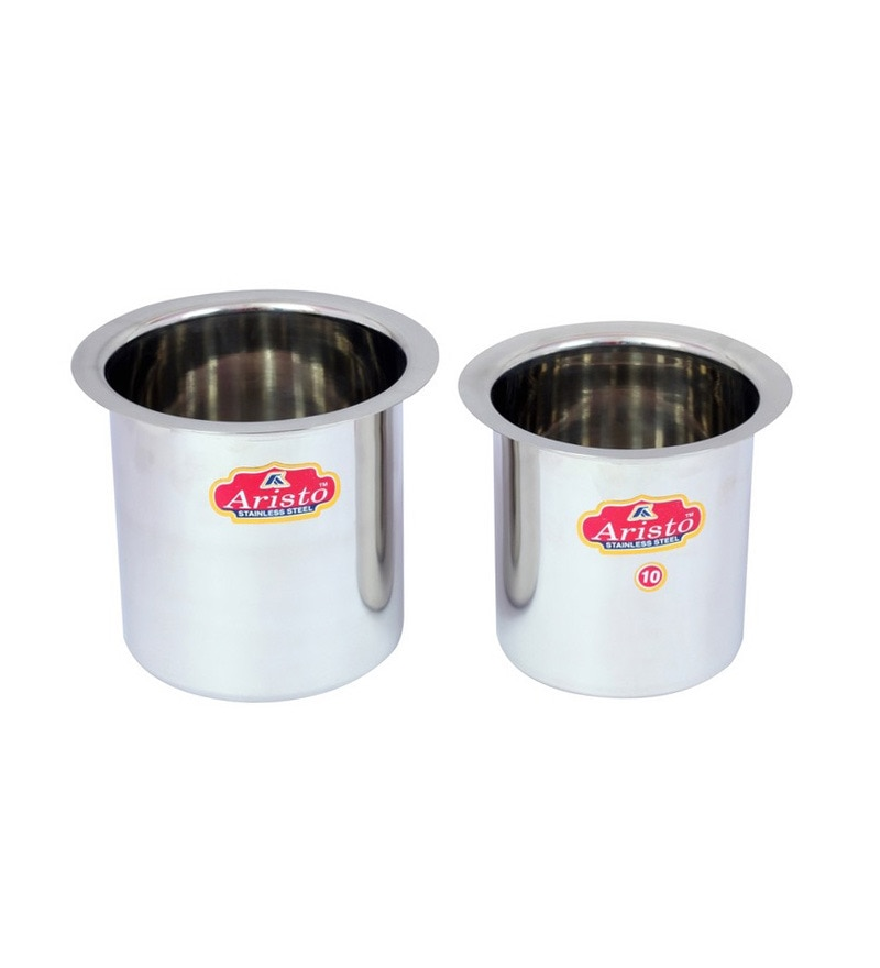 Milk Container Boiler Gunj 2 Pc Set 800 ML to 1250 ML by Aristo