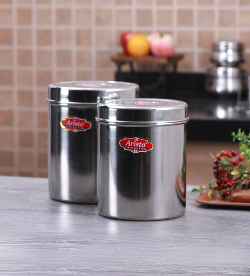 Aristo Silver Storage Container - Set of 2