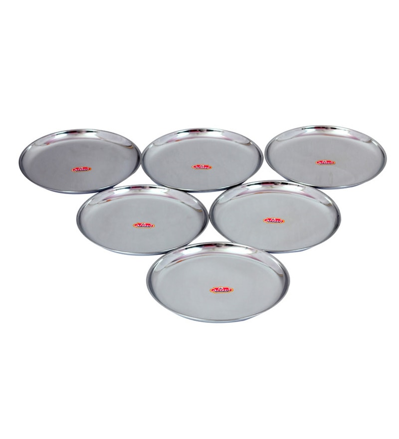 Aristo Steel Lunch Plates - Set of 6