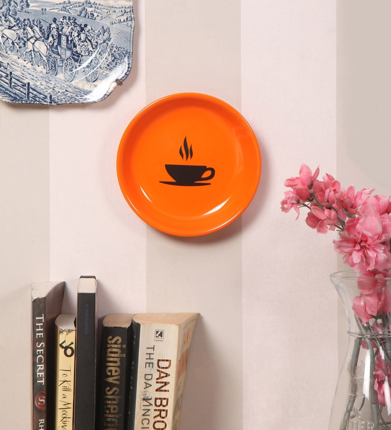 Multicolour Melamine Dish Wall Hanging by Art ka keeda