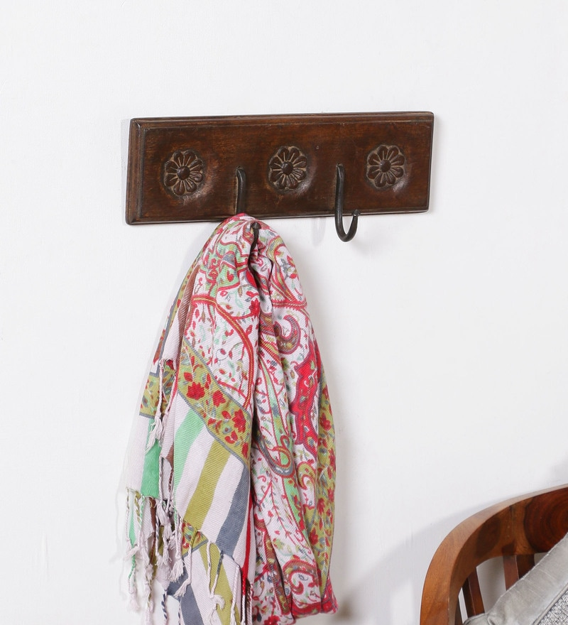 Art of Jodhpur Brown Solidwood  Key Holder