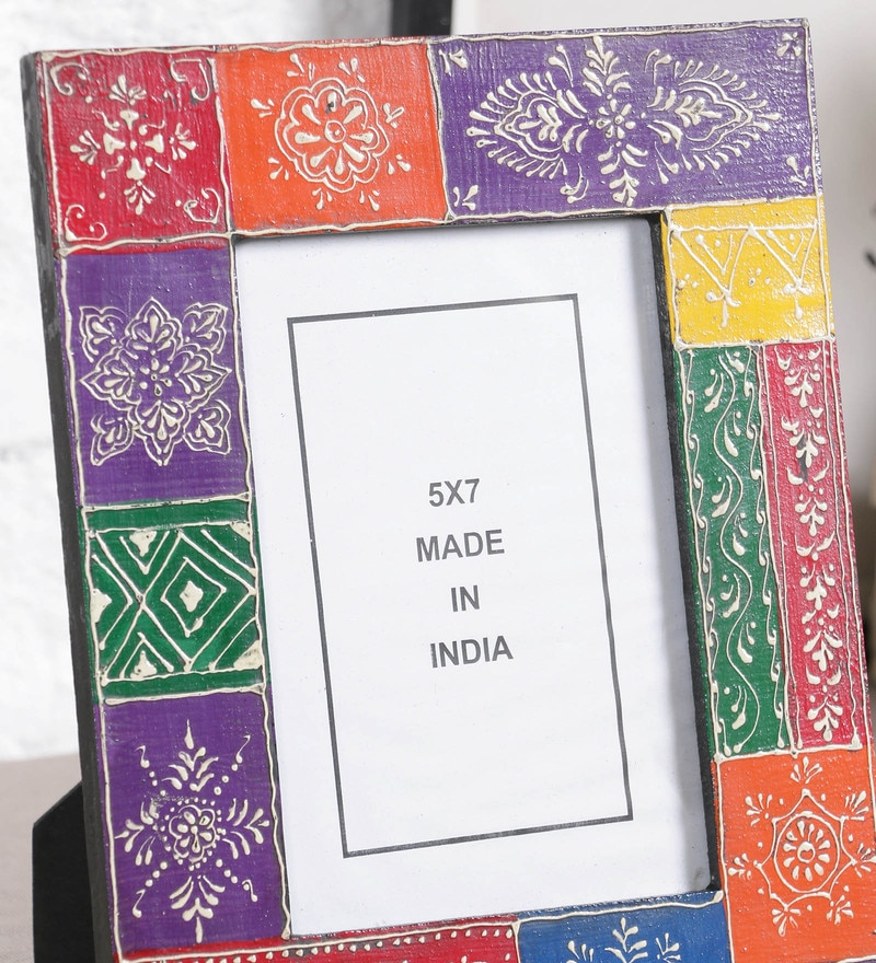 Buy Multicolor MDF 5 x 7 Inch Single Photo Frame by Art of Jodhpur ...