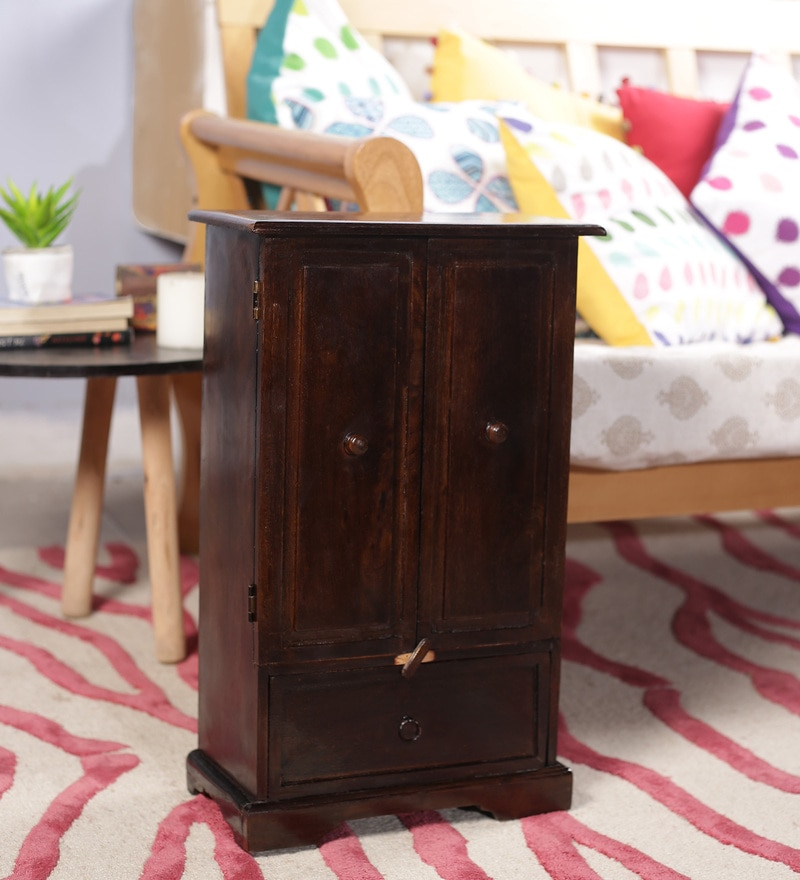 Wenge Solid Wood Vintage Collectible with 2 Drawers by Art of Jodhpur