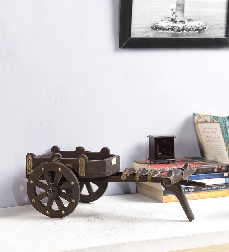 Brown Solid Wood Showpiece by Art of Jodhpur