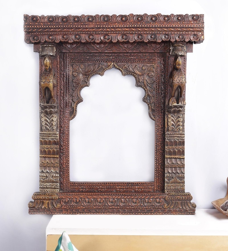 Multicolour Solid Wood Rajputana Jharokha by Art of Jodhpur