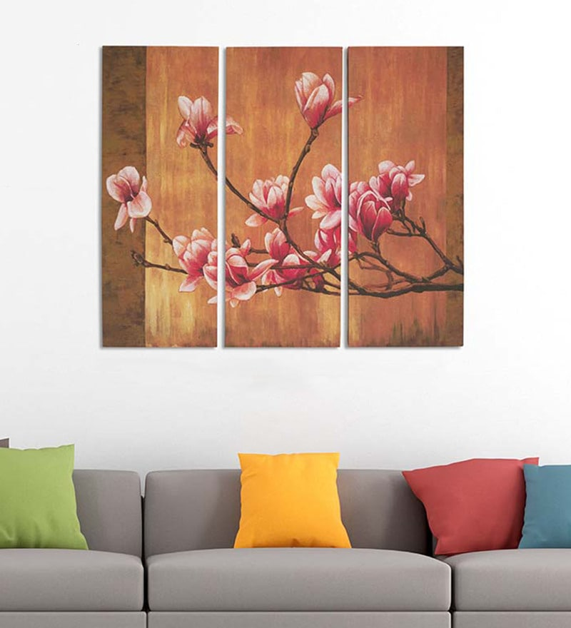 Cotton & Canvas 24 x 30 Inch Orchid - Set of 3 by Art Street