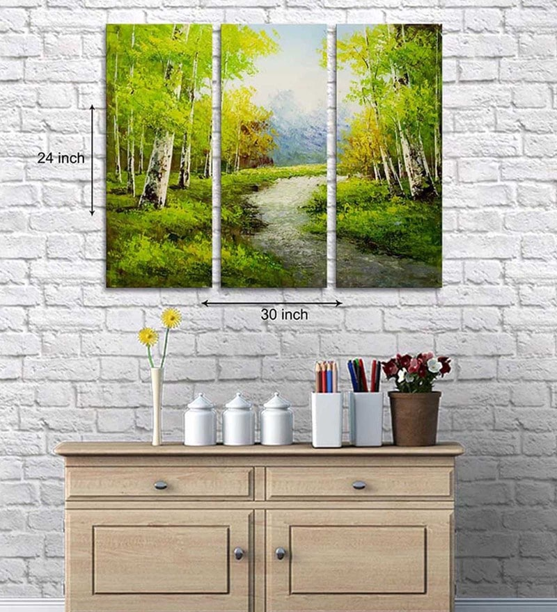 Art Street Cotton & Canvas 24 x 30 Inch Scenic Canvas Art - Set of 3