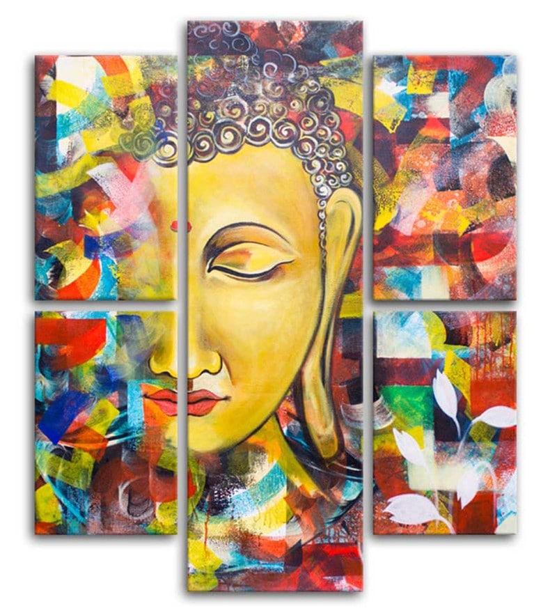 Buy Cotton Amp Canvas 35 5 X 31 4 Inch Buddha Split Canvas