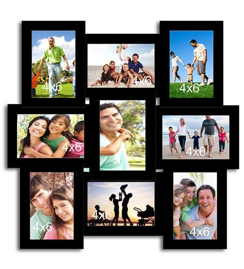 Buy Art Street Collage Black Cotton Photo Frame Online