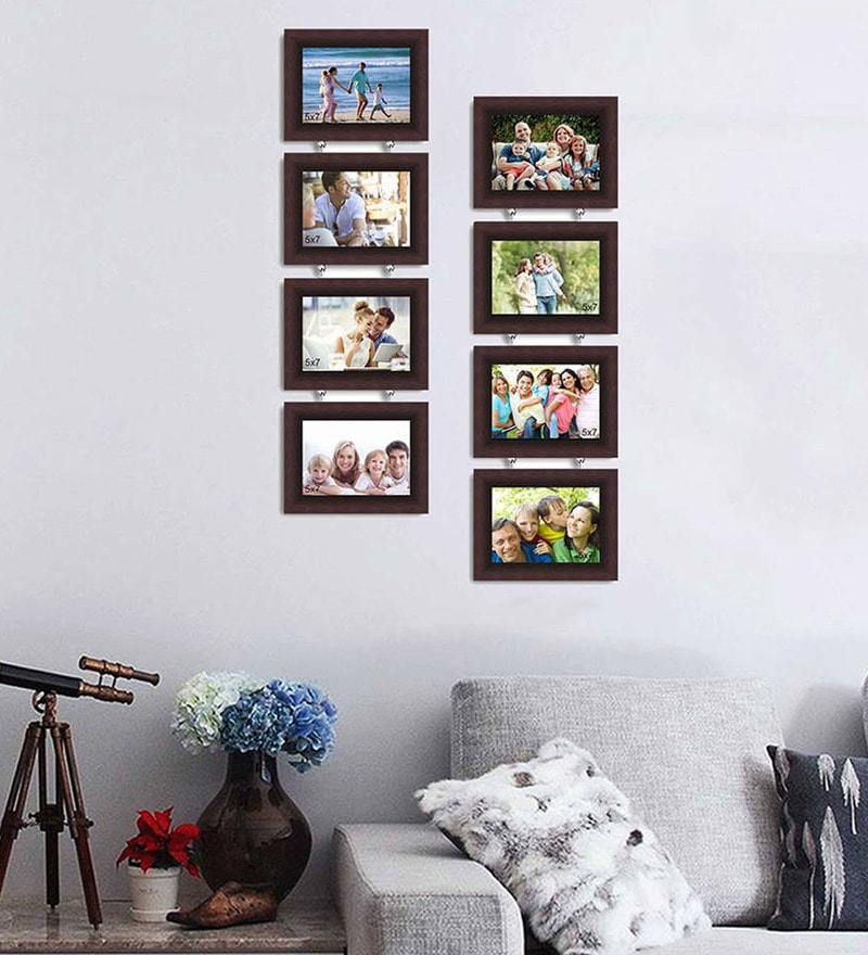Synthetic Wood 31 x 20 Charming Chain Photo Frame - Set of 8 by Art Street