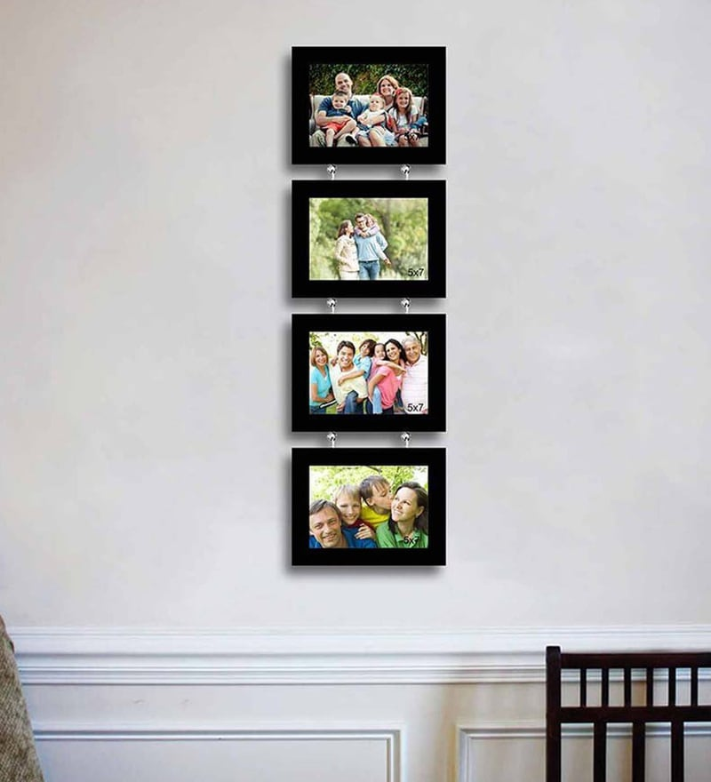 Synthetic Wood 31 x 9 Pearl Drop Photo Frame - Set of 4 by Art Street