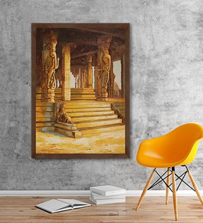 Canvas 21 x 31.5 Inch Hampi P1 Framed Limited Edition Digital Art Print by Ganesh Doddamani by ArtCollective