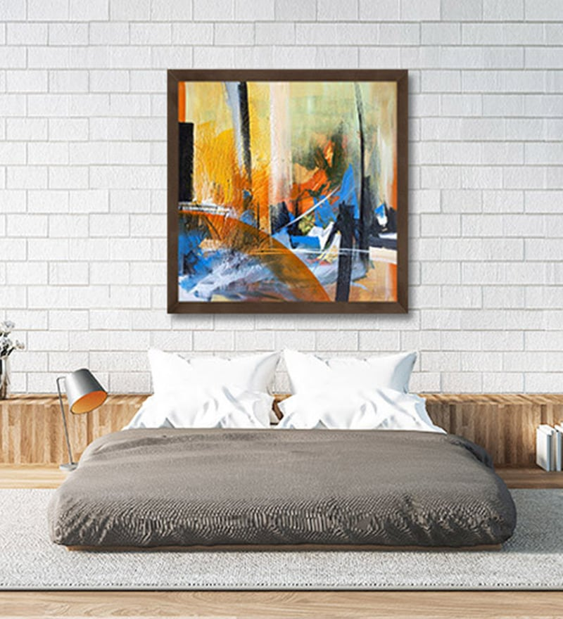 Canvas 27 x 27 Inch Untitled Framed Limited Edition Digital Art Print by Kashmira Rajpura by ArtCollective