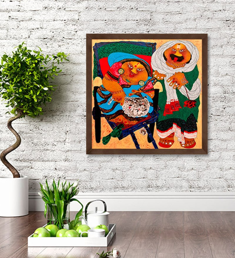 Canvas 30 x 30 Inch Untitled Framed Limited Edition Digital Art Print by Shyamal Mukherjee by ArtCollective