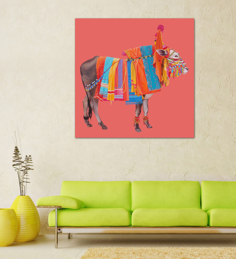 Canvas Gangireddu Framed Art Print by Artflute