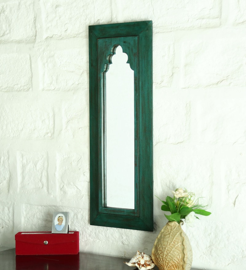 Green Solid Wood Minaret Frame Mirror by Artisans Rose