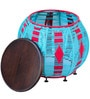 Arial Round Pouffe in Multicolour by Inliving