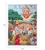 Original Oleograph - Ravi Varma Press(1892-1972) -Shri Tukaram Maharaj Swargarohan - 10 X 14 Inch on Paper