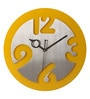 Art Ka Keeda Multicolour Stainless Steel 11 Inch Round Time Machine Wall Clock