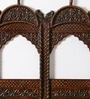 Art of Jodhpur Brown Solidwood  Handcarved Rajputana Jharokha