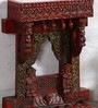 Brown Solidwood Jharokha by Art of Jodhpur