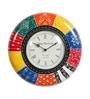 Multicolor MDF 12 Inch Round Handpainted Wall Clock by Art of Jodhpur