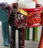 Art of Jodhpur Multicolor Solidwood  Candle Holder