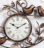 Brown Metal Wall Clock by Art of Jodhpur