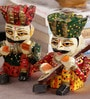 Art of Jodhpur Multicolor Solidwood Figurines - Set of 5