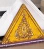 Yellow Solidwood Tissue Holder by Art of Jodhpur