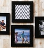 Wall Collage Black Fibre Wood Photo Frame- Set Of 4 by Art Street