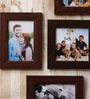 Wall Collage Brown Fibre Wood Photo Frame by Art Street