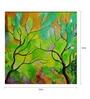 Art Zolo Canvas 12 x 12 Inch Season Emerald Unframed Artwork Painting