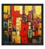 ArtCollective Abstract Canvas 32 x 32 Inch Framed Art Print