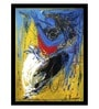 ArtCollective Abstract Dance Canvas 24 x 24 Inch Framed Art Print