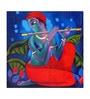 Artflute Canvas 24 x 1 x 24 Inch Krishna Framed Limited Edition Digital Art Print