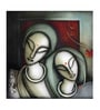 Canvas 24 x 1 x 24 Inch Love Framed Limited Edition Digital Art Print by Artflute