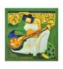 Canvas 24 x 1 x 24 Inch Saraswati Framed Limited Edition Digital Art Print by Artflute