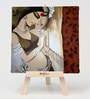 Cotton & Canvas 7 x 1 x 7 Inch Couple Framed Digital Art Print with Wooden Easel by Artflute