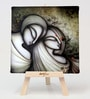 Cotton & Canvas 7 x 1 x 7 Inch Divine Love Story Framed Digital Art Print with Wooden Easel by Artflute