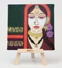 Cotton & Canvas 7 x 1 x 7 Inch Face Framed Digital Art Print with Wooden Easel by Artflute