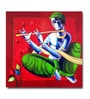 Canvas Man with Flute Framed Art Print by Artflute
