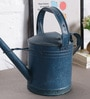 Artisans Rose Blue Iron Vintage Watering Can Collectible