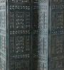 Artisans Rose Blue Solidwood Kashmiri-Style Screen & Divider