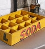 Artisans Rose Yellow Solidwood Vintage Collectible Wine Holder