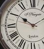 Artshai Black Brass Vintage Hand Crafted Wall Clock
