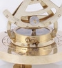 Gold Brass Nautical with Telescope & Magnetic Compass by Artshai