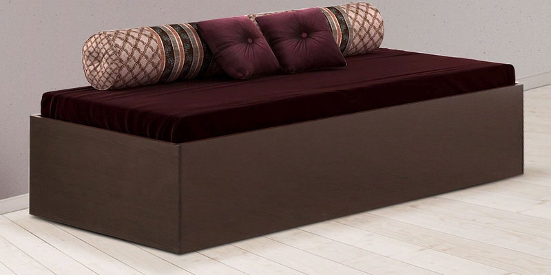 Aspire Divan Bed with Box Storage in Country Dark Finish by Decor Modular