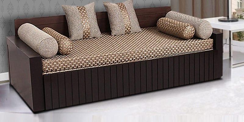 Buy Shine Sofa Bed By Hometown Online Engineered Wood Sofa Cum